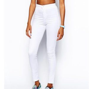 American Apparel White High Waist Skinny Jeans